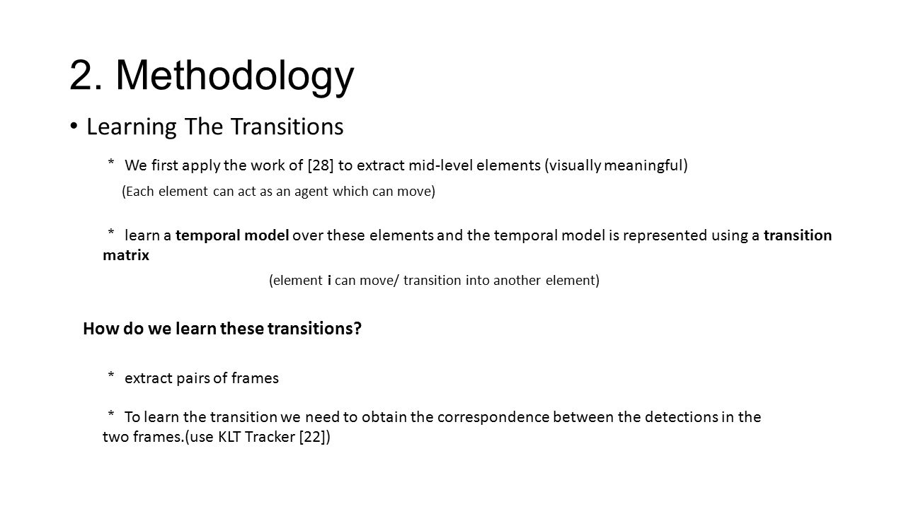 2. Methodology Learning The Transitions