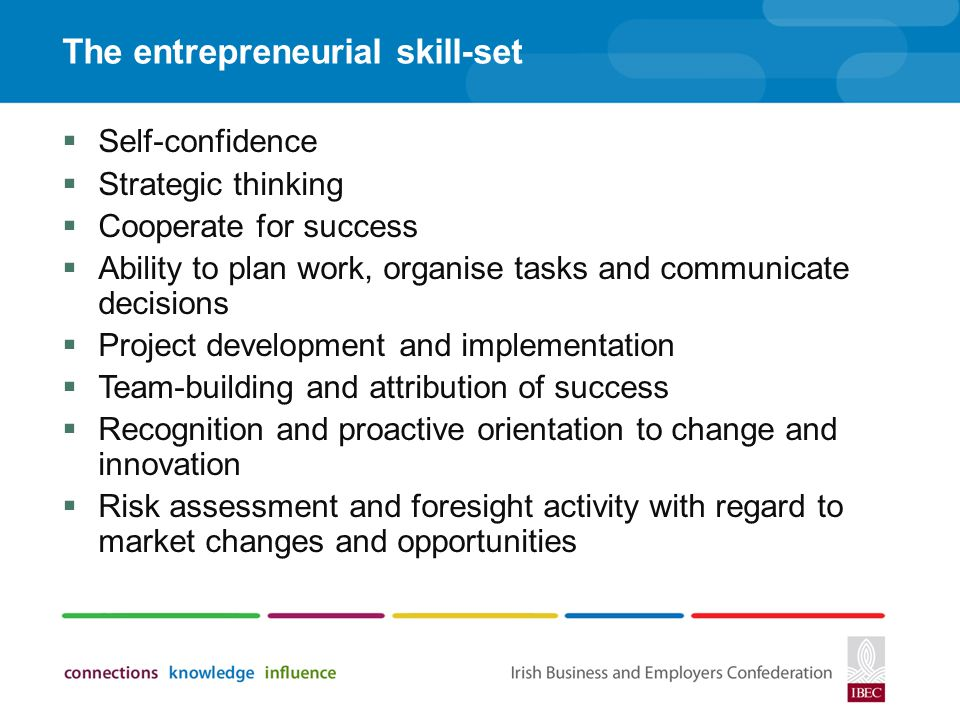 The entrepreneurial skill-set