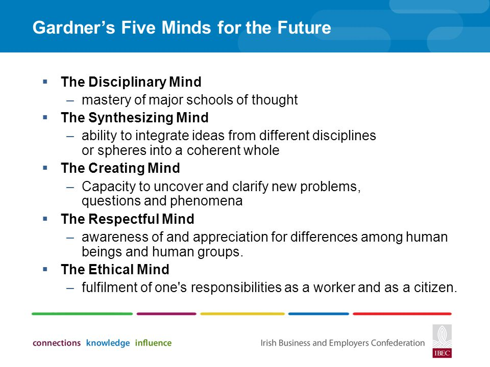 Gardner's Five Minds for the Future