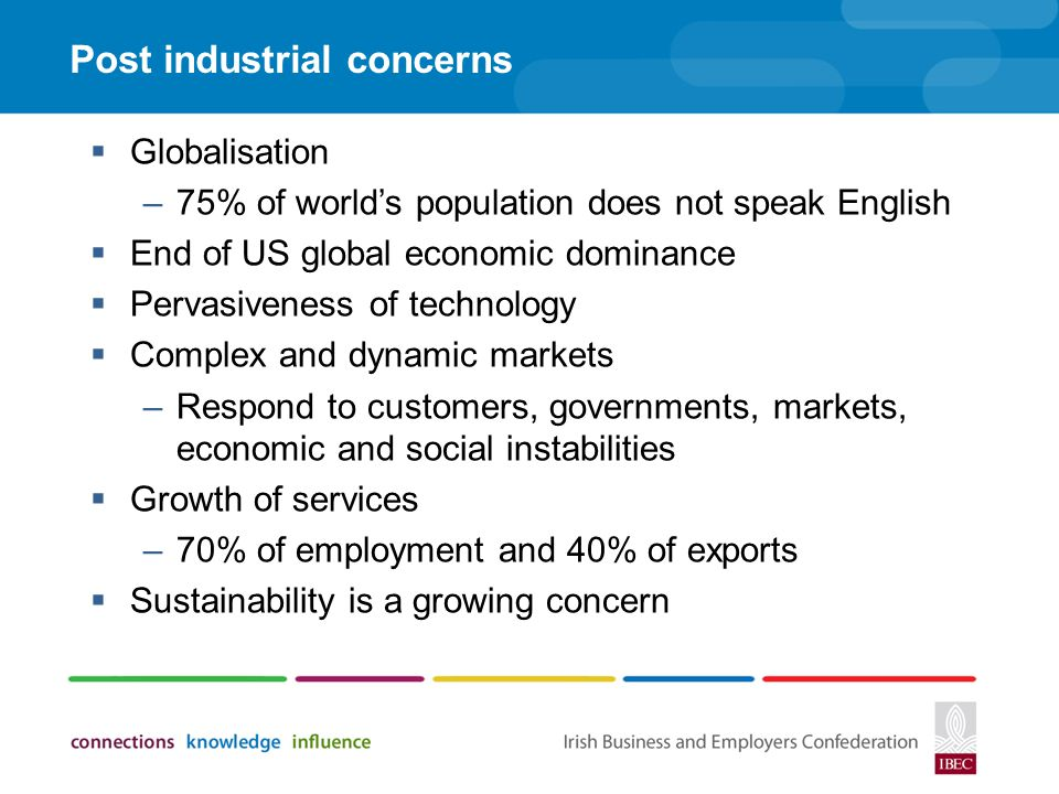 Post industrial concerns