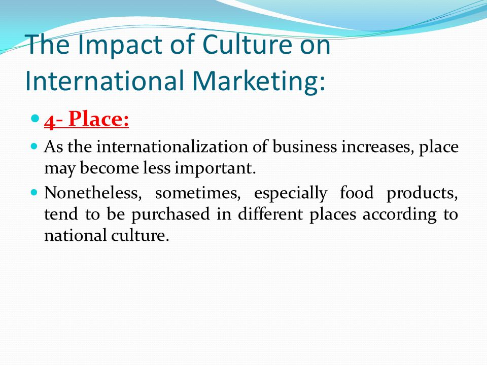 importance of culture in international business