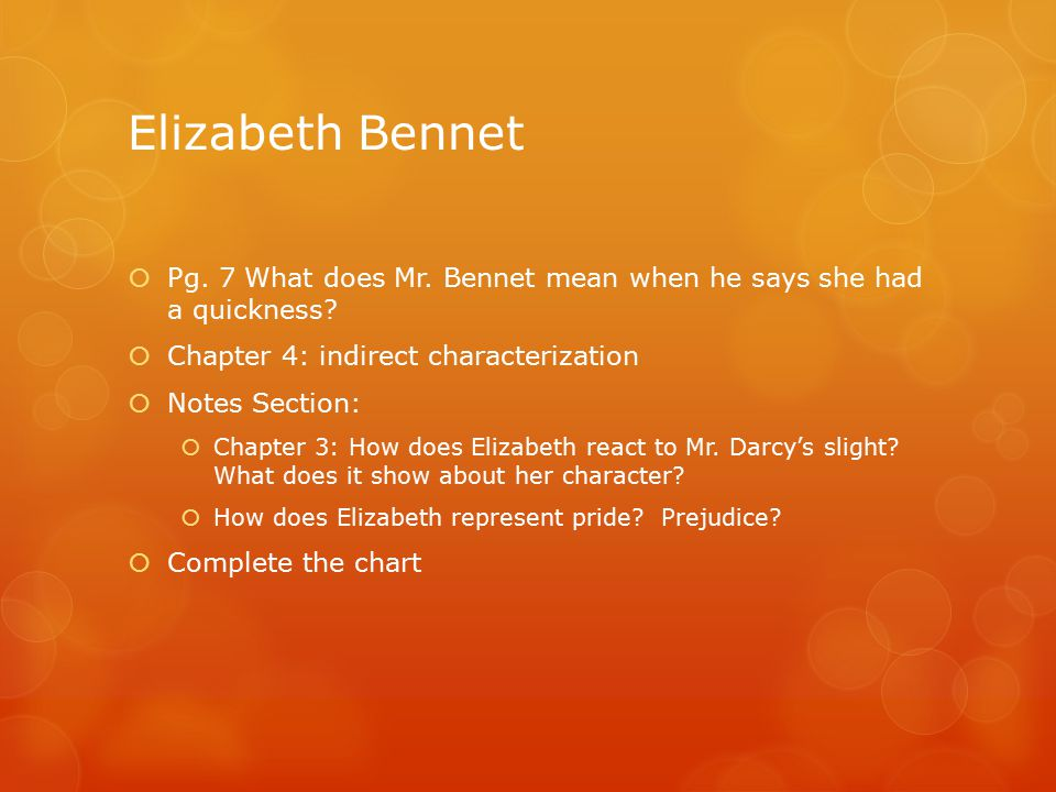 characterization of pride and prejudice