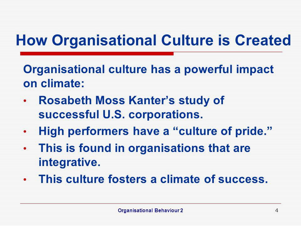 impact of organisational culture