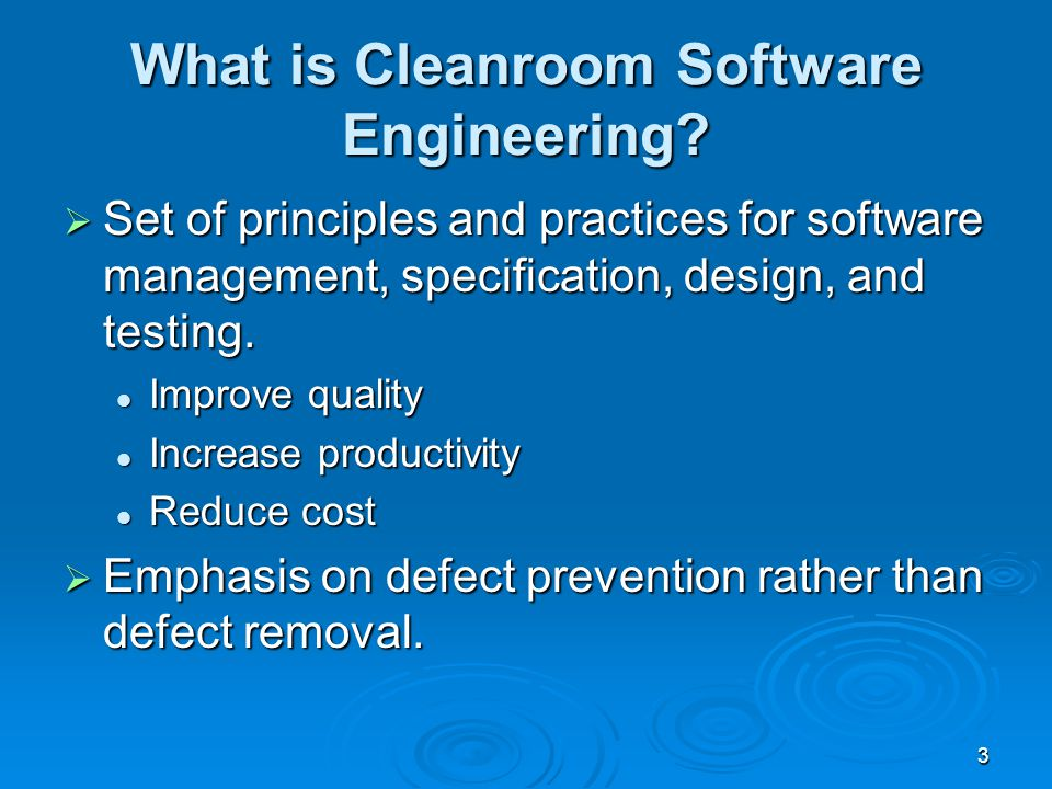 Cleanroom Software Engineering Ppt Download