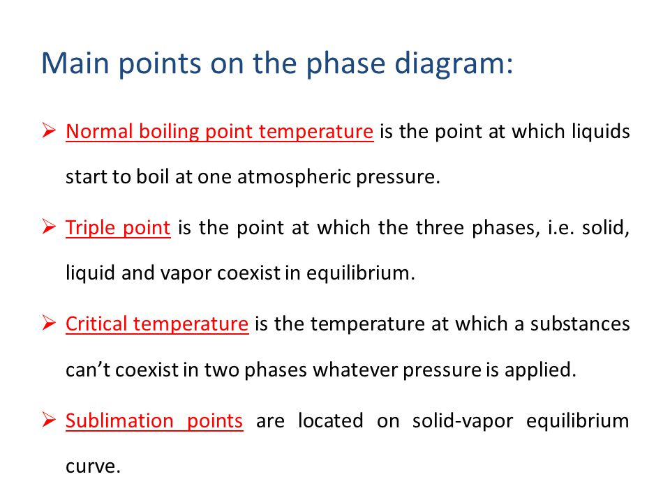 Che 201 introduction to chemical engineering ppt video online main points on the phase diagram ccuart Choice Image