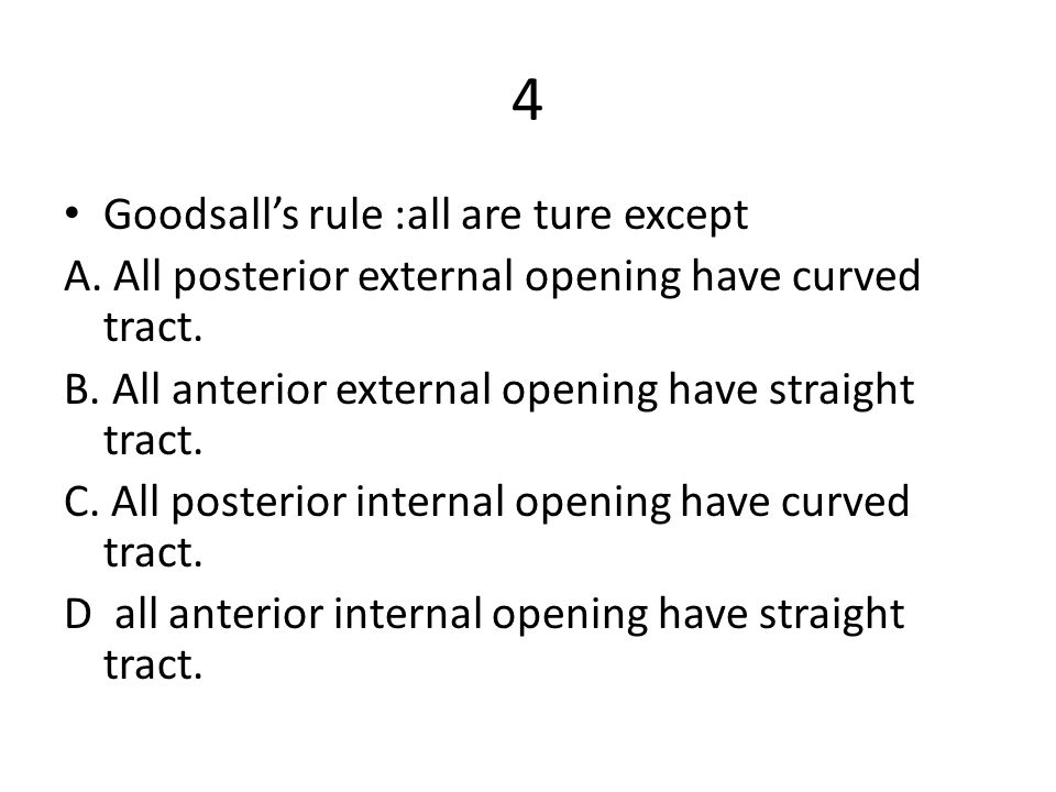 4 Goodsall's rule :all are ture except