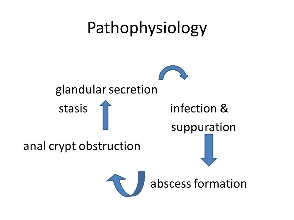 Pathophysiology glandular secretion stasis infection & suppuration