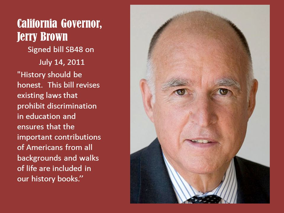 California Governor, Jerry Brown