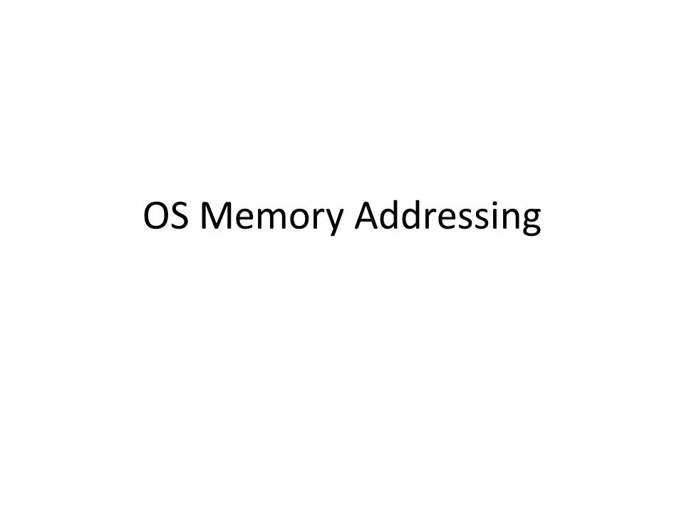 OS Memory Addressing