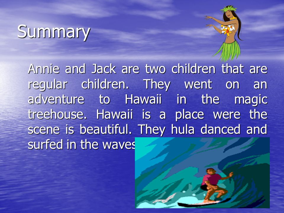High Tide In Hawaii Author Mary Pope Osborne Ppt Download