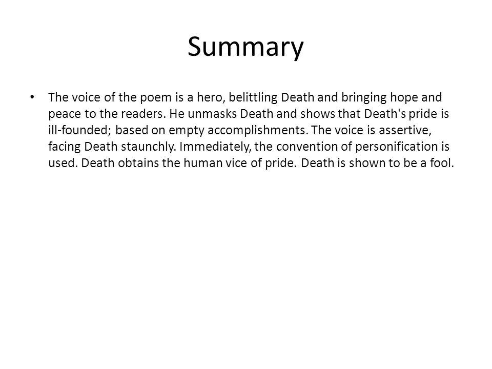 facing it poem summary