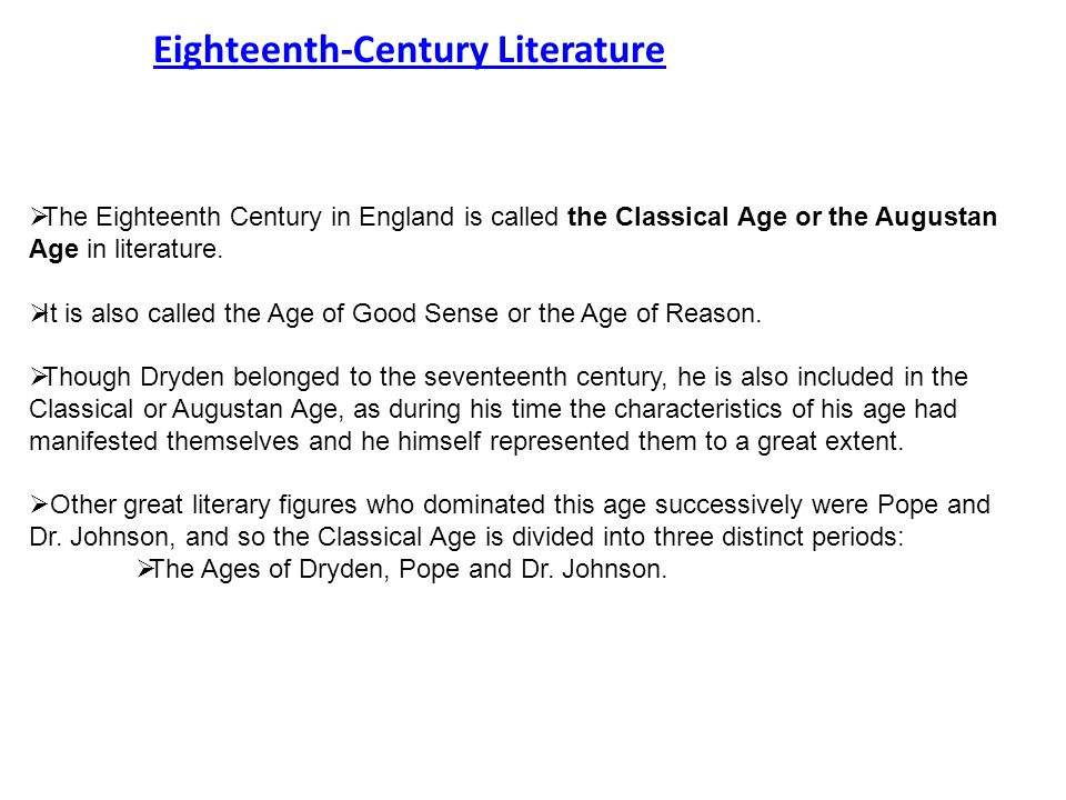 augustan age in english literature
