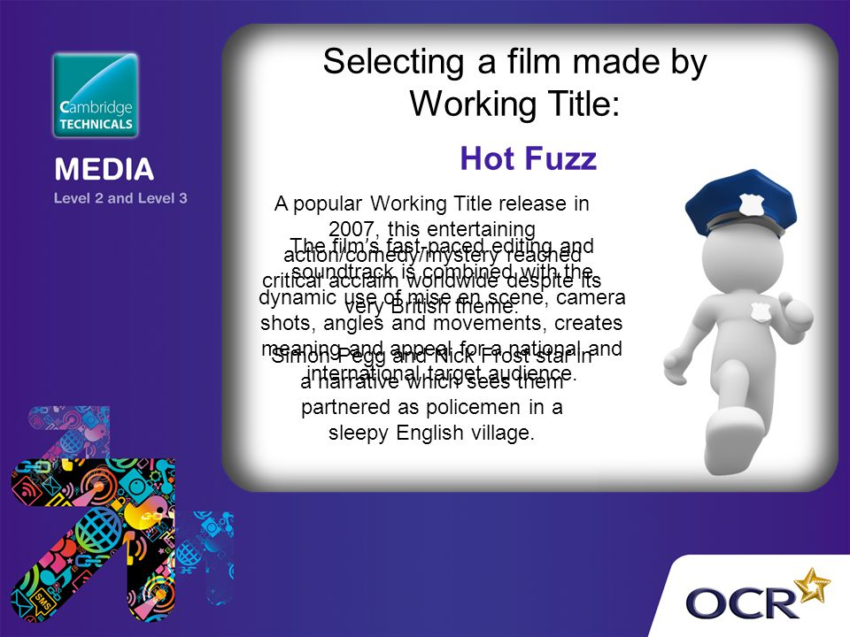 Selecting a film made by Working Title:
