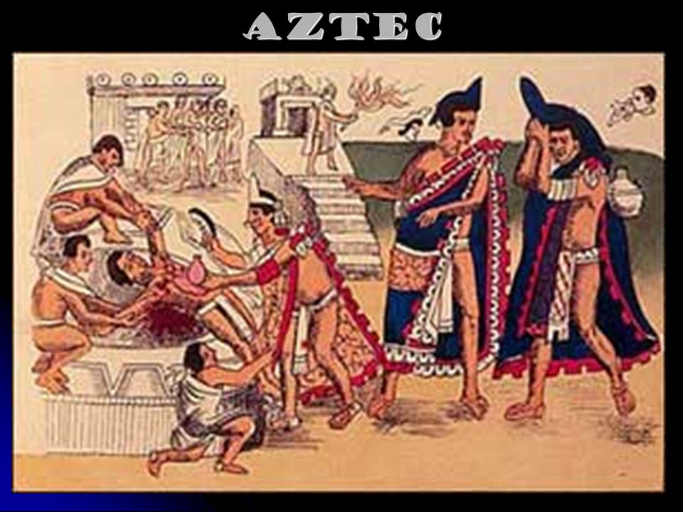 Aztec Civilization Sacrificed 20,000 to 50,000 people each year. Aztecs were engaged in much warfare.
