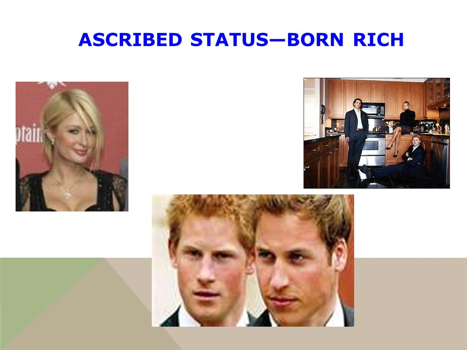 which of the following is an ascribed status