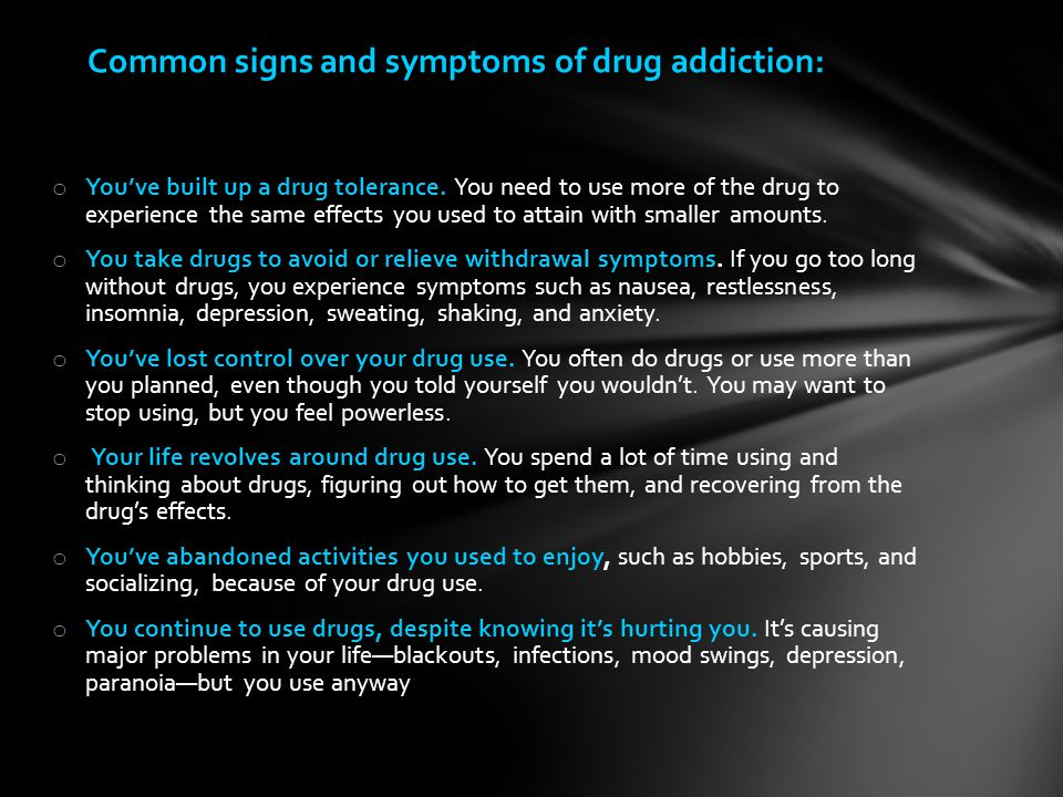 effects of drug addiction on family This section looks at the effects on the family when someone is abusing alcohol or other drugs in many cases the person is not an addict or an it is well known that a parent with a drug or alcohol problem can have a negative effect on their family members you could say that the person with the.