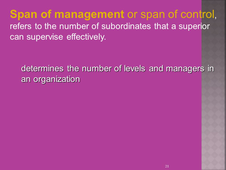span of management refers to