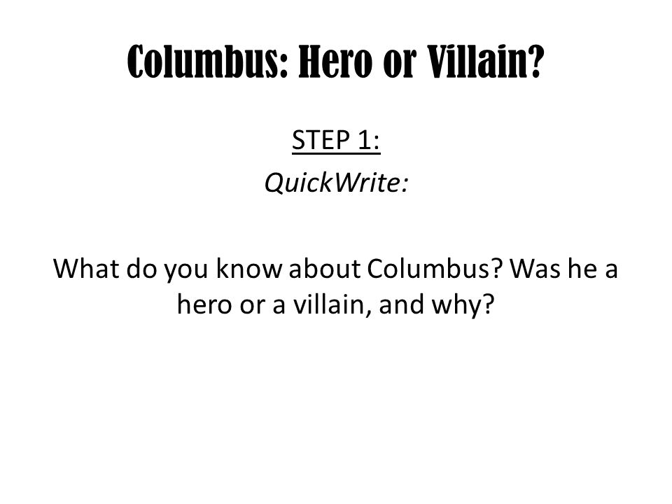 Purpose Of Thesis Statement In An Essay  Columbus  Yellow Wallpaper Essay also Essay On My Mother In English Columbus Hero Or Villain  Ppt Download Paper Essay Writing