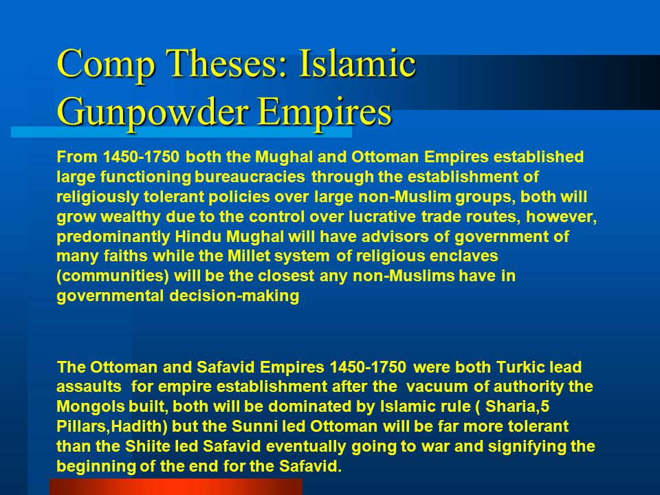 Muslim Empires Dbq Examples Of High Quality Thesis Statements Pov