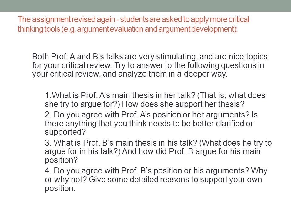 critical thinking argument topics