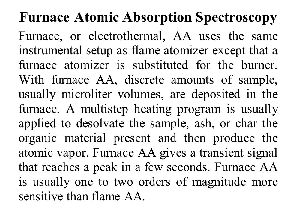 Furnace Atomic Absorption Spectroscopy
