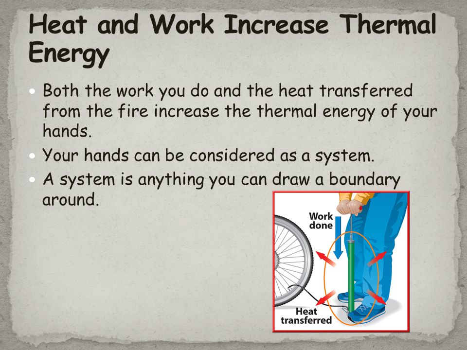Heat and Work Increase Thermal Energy
