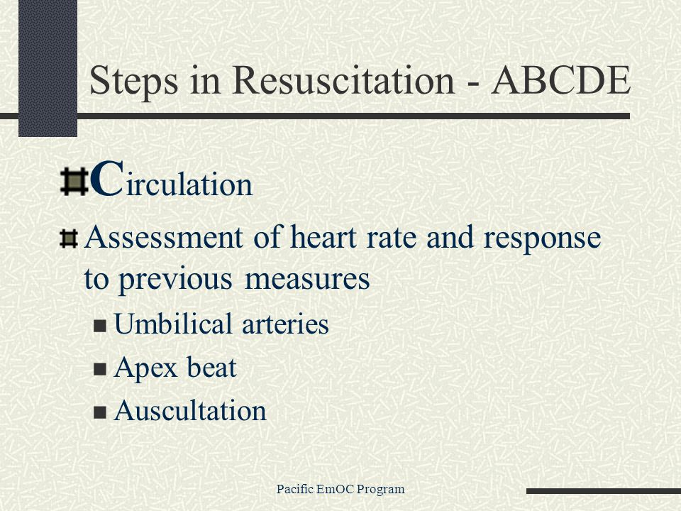 Steps in Resuscitation - ABCDE