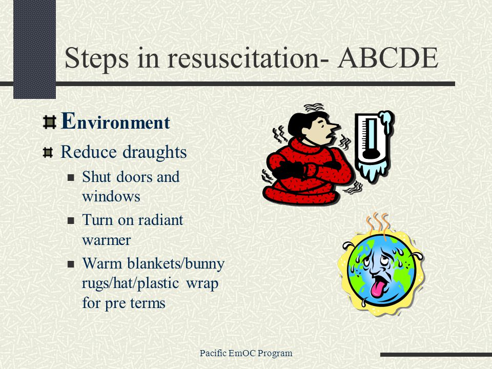 Steps in resuscitation- ABCDE