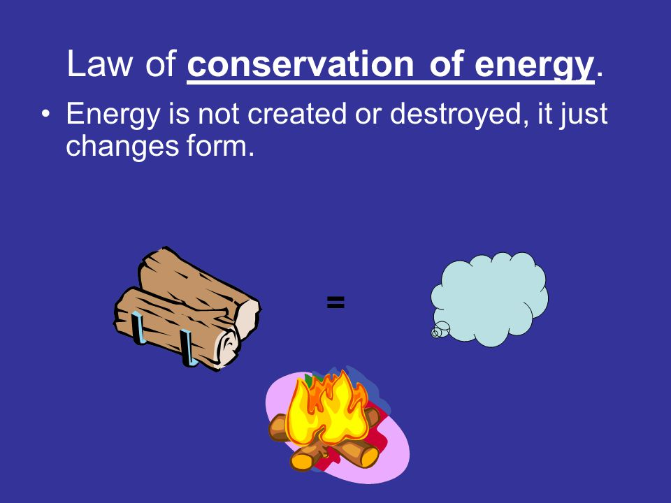 Law of conservation of energy.