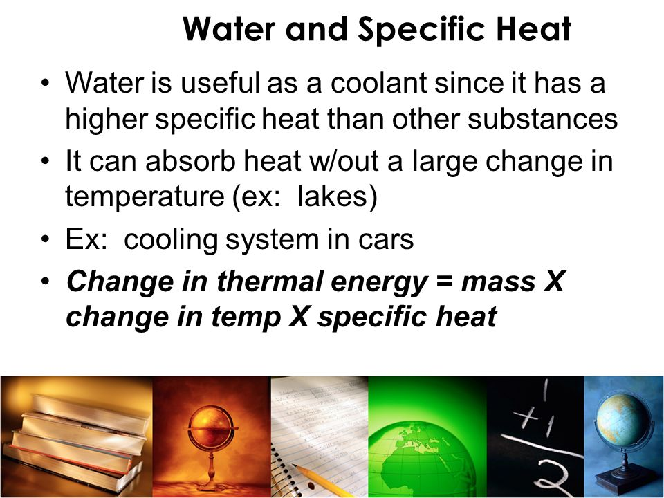 Water and Specific Heat