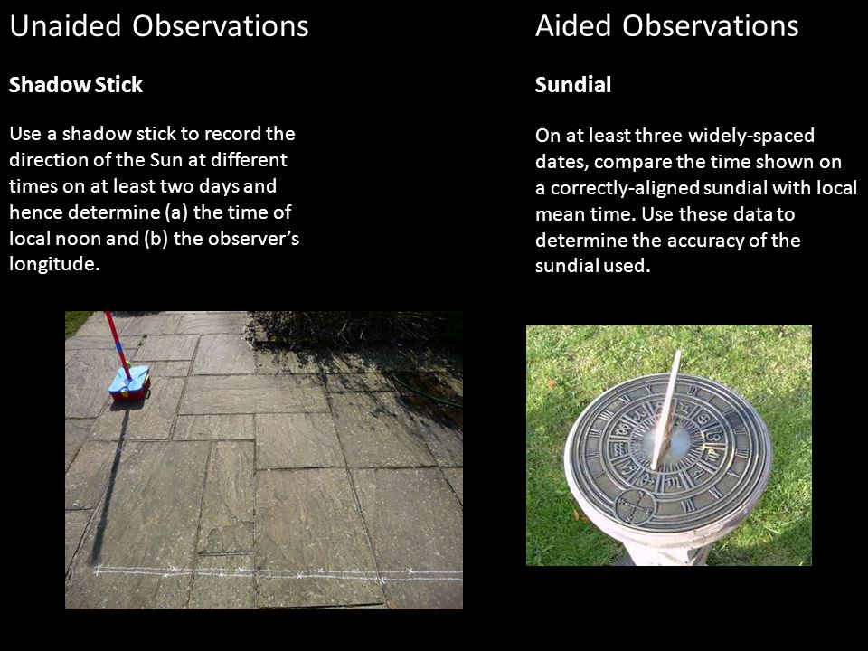 gcse astronomy coursework shadow stick