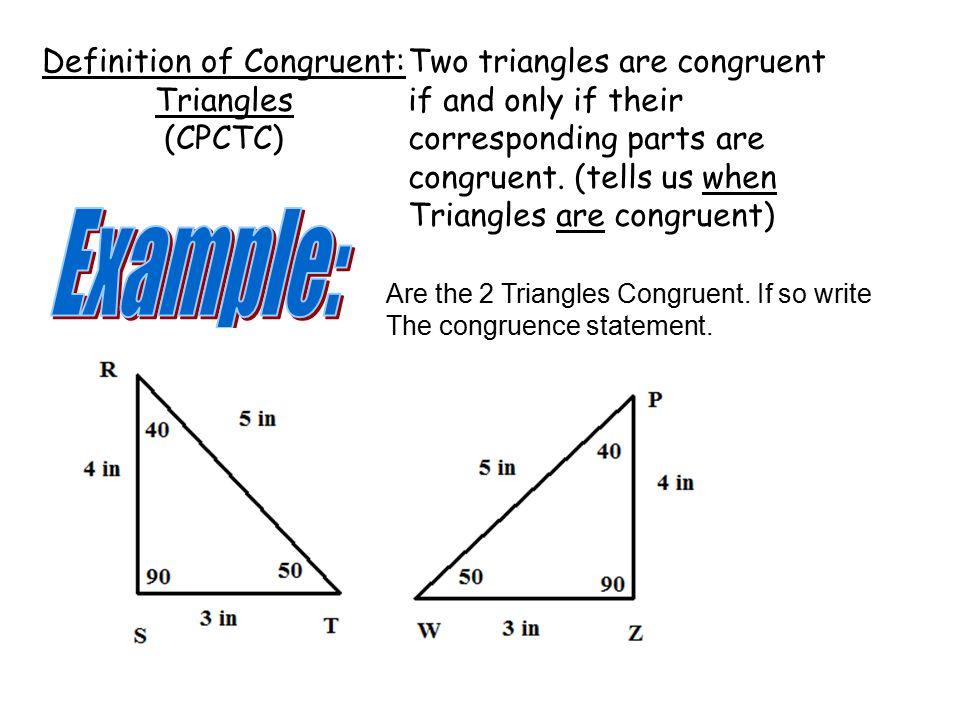 2 3 Exploring Congruent Triangles Ppt Video Online Download