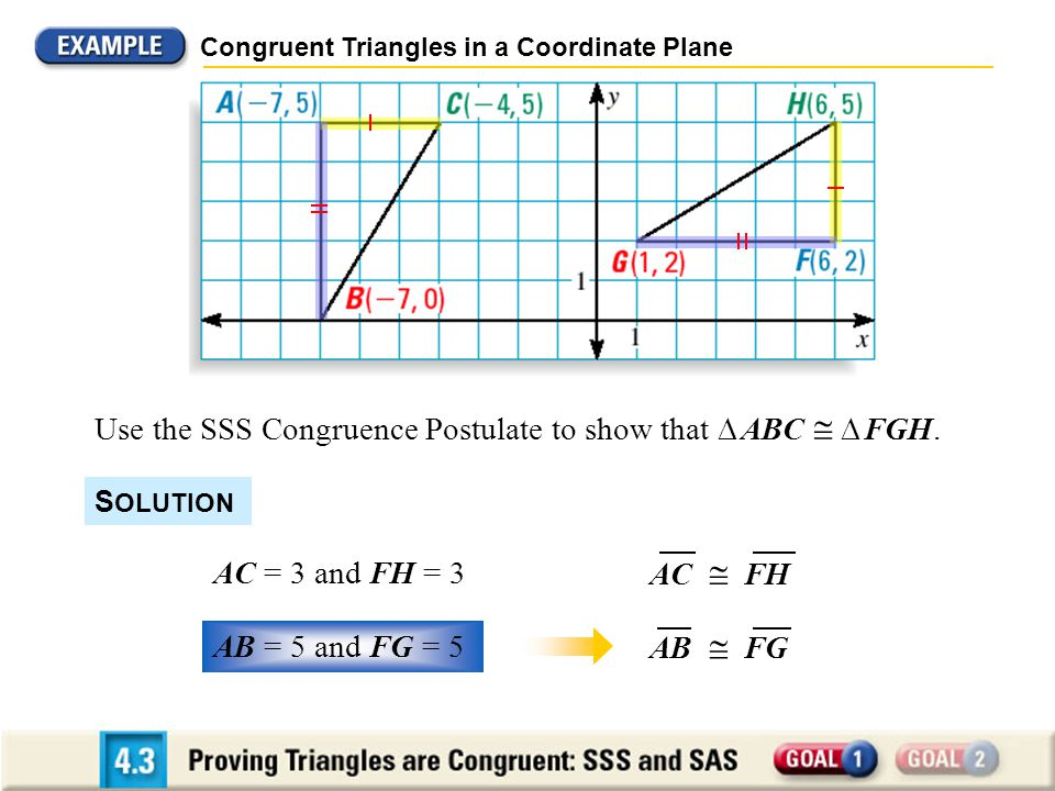 4.3 Proving Triangles Congruent: SSS and SAS - ppt download