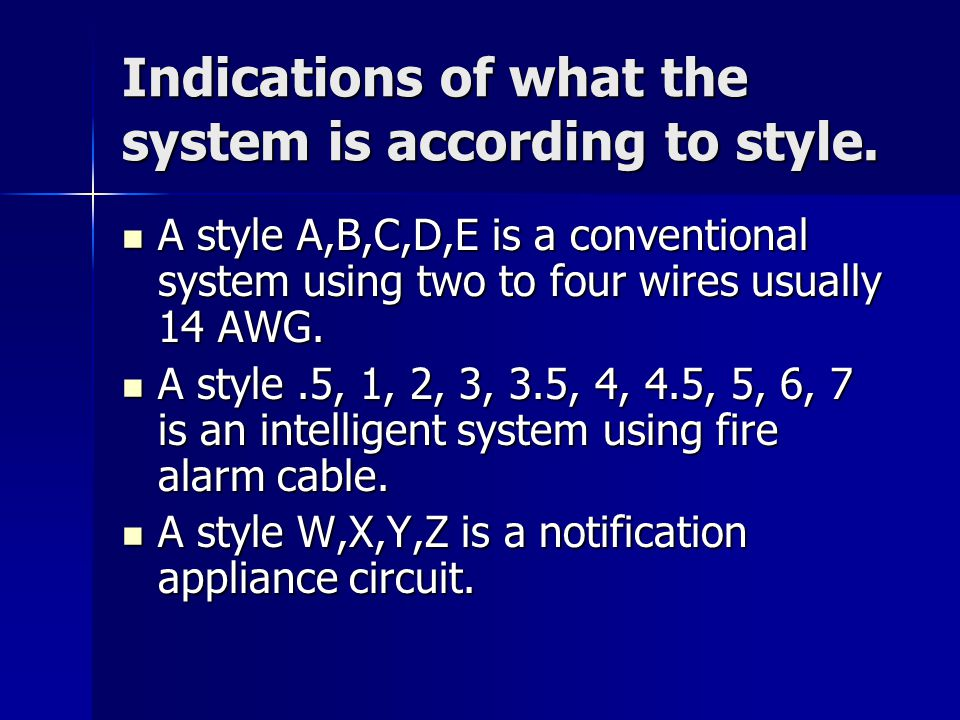 fire alarm wiring styles wiring diagramsnicet exam prep level ii, class ppt video online download commercial fire alarm wiring diagrams fire alarm wiring styles