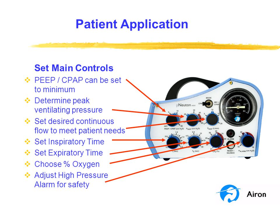 Patient Application Set Main Controls