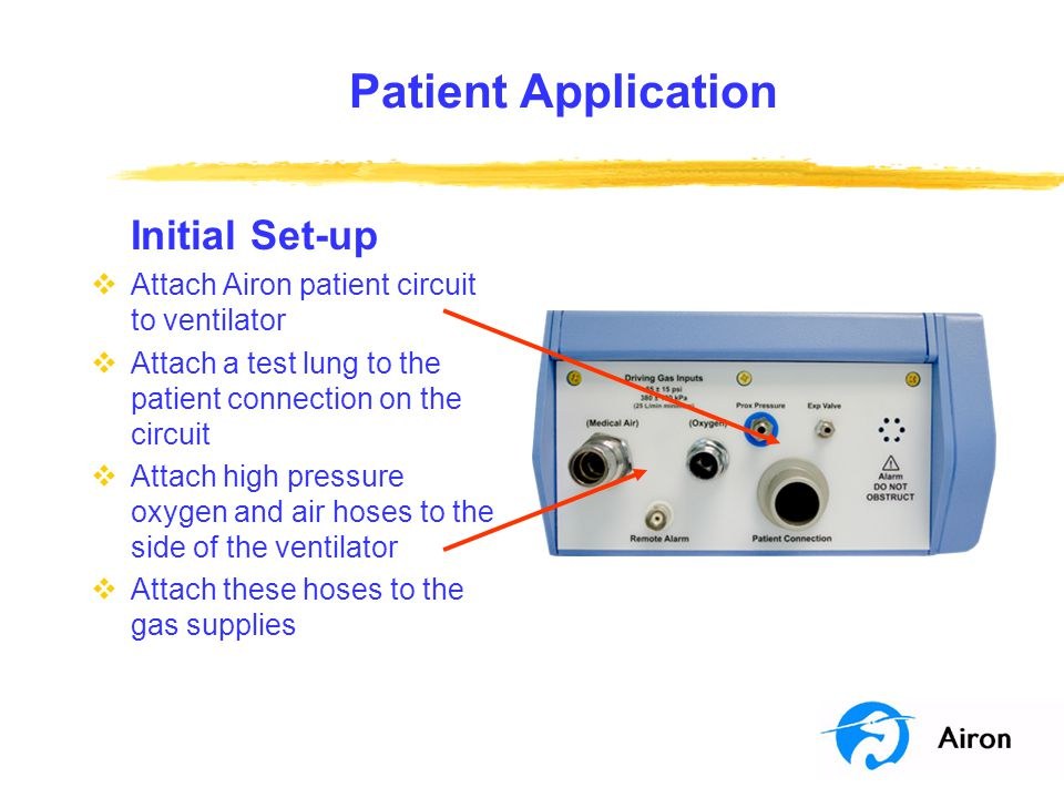 Patient Application Initial Set-up