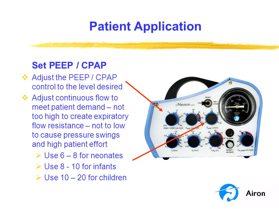 Patient Application Set PEEP / CPAP