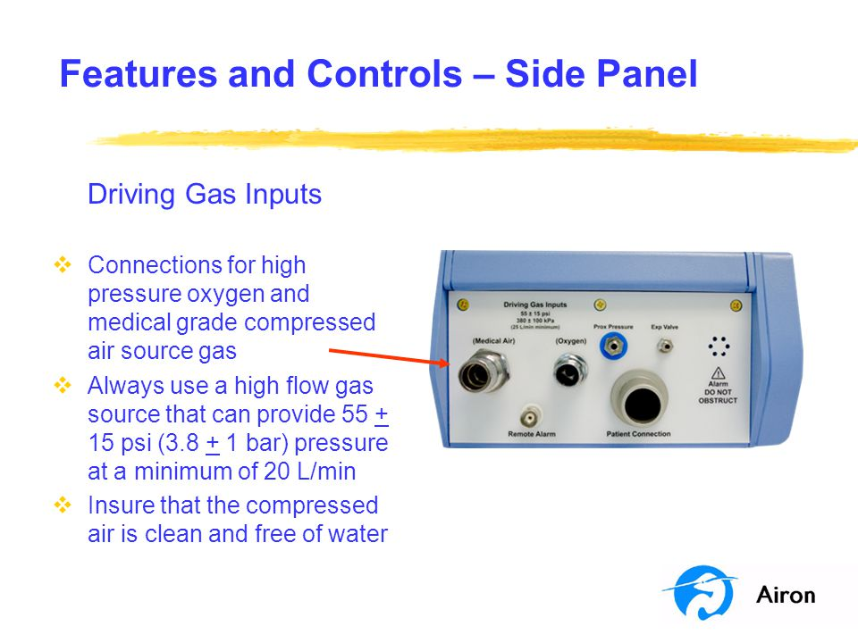 Features and Controls – Side Panel