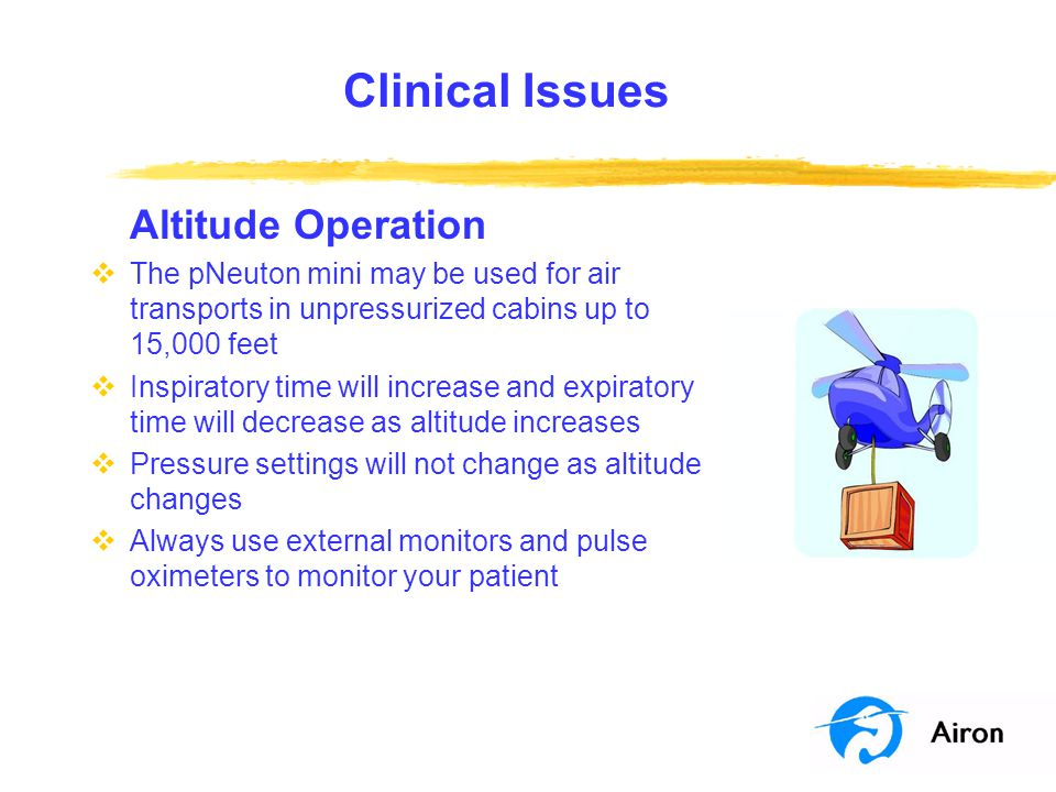 Clinical Issues Altitude Operation
