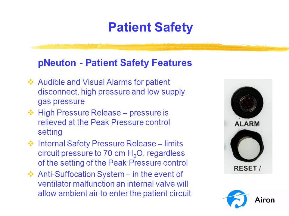 Patient Safety pNeuton - Patient Safety Features