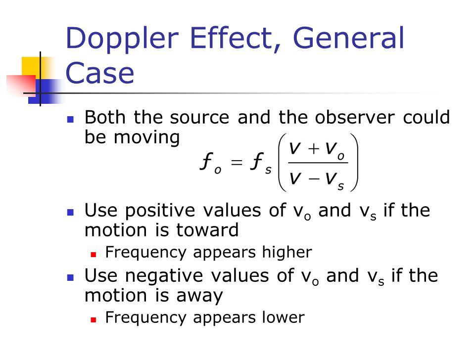 Doppler Effect, General Case