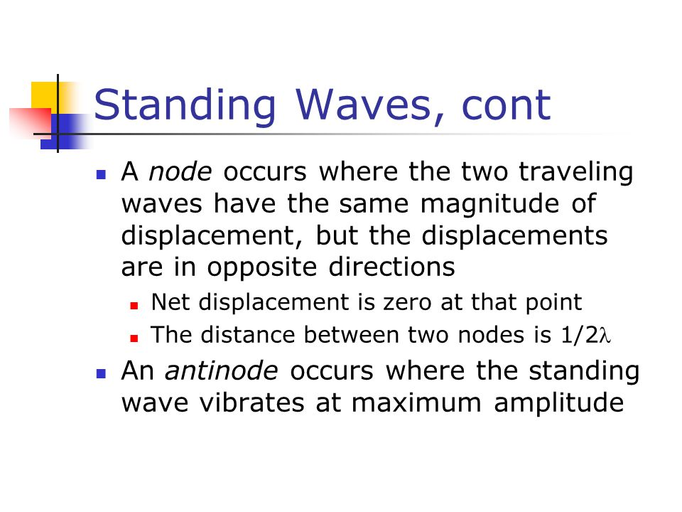 Standing Waves, cont