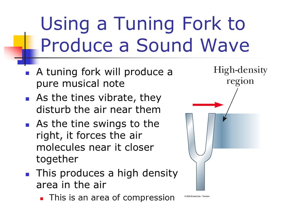Using a Tuning Fork to Produce a Sound Wave