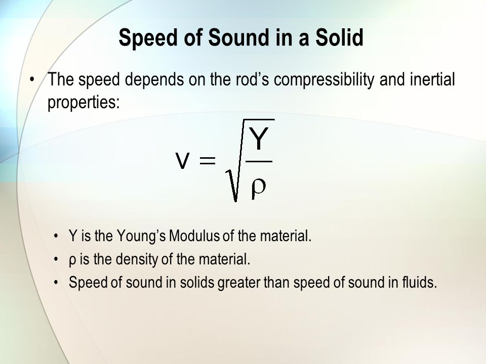 Speed of Sound in a Solid