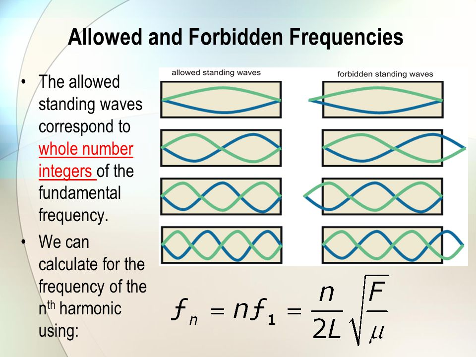 Allowed and Forbidden Frequencies