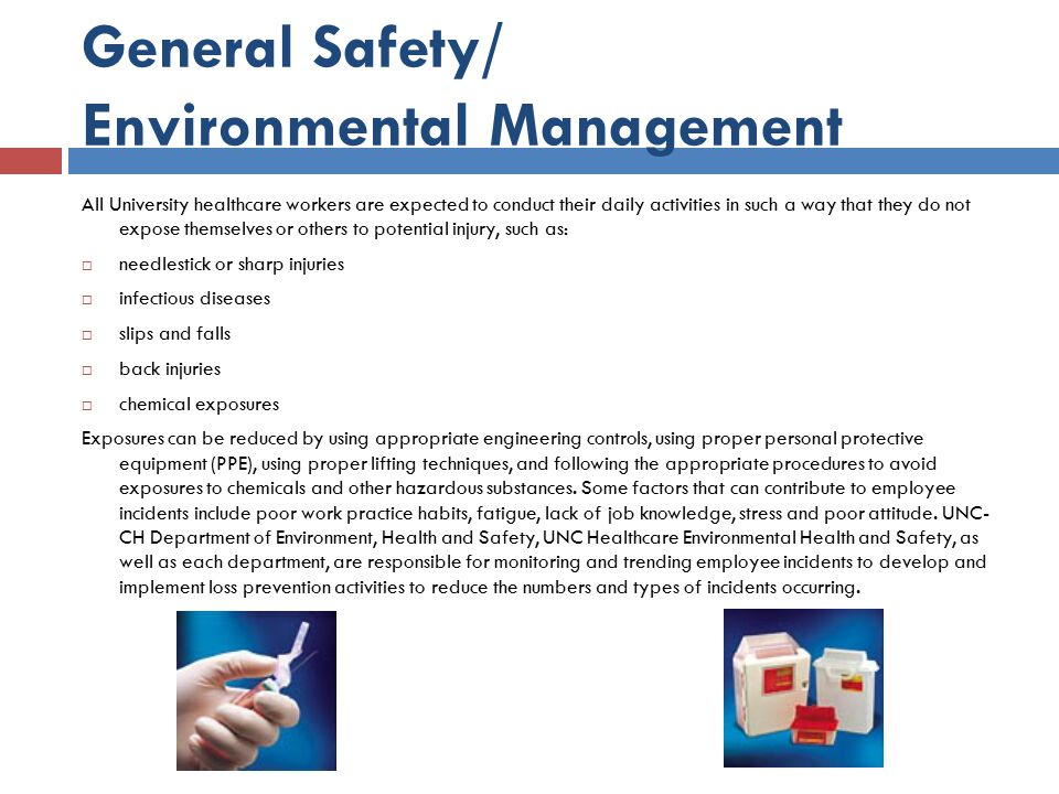 General Safety/ Environmental Management
