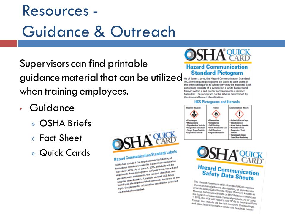 Resources - Guidance & Outreach