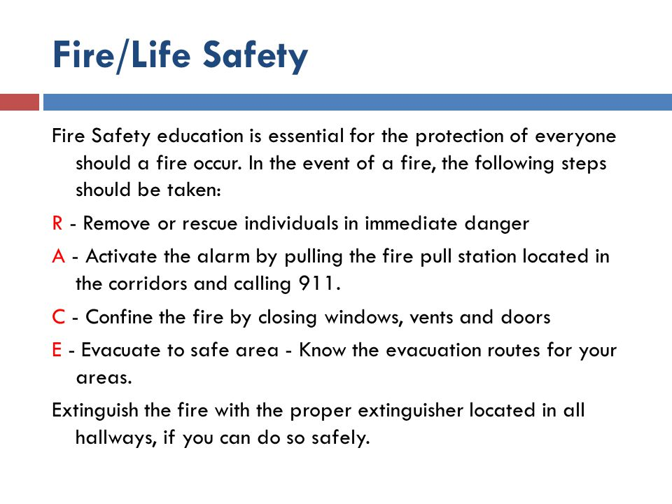 Fire/Life Safety