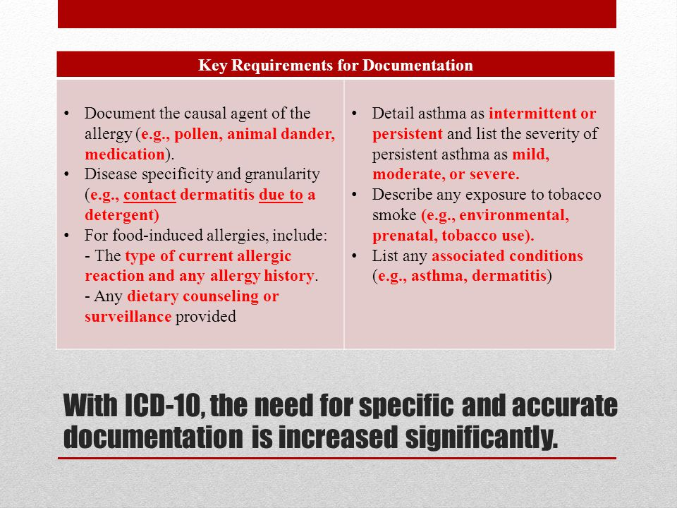 10 Key Requirements For Doentation