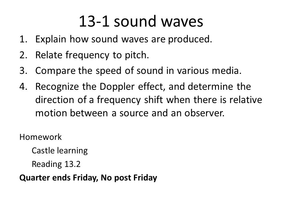 4/2 do now [explain your answer] The wavelength of a wave
